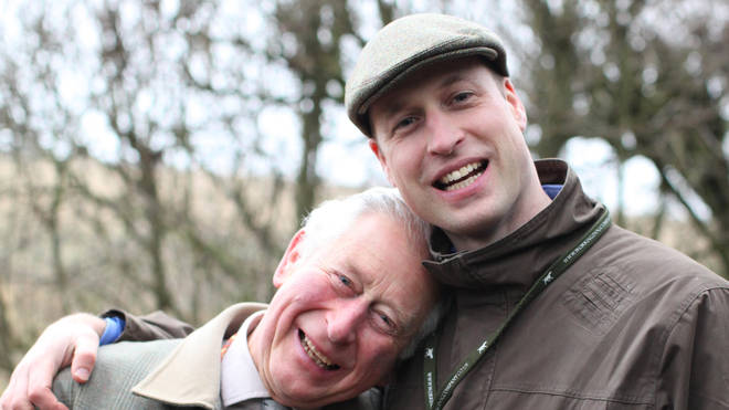 Clarence House released a photo of William with his father to mark the day