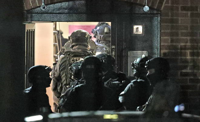 Counter-terror police raided a property following an arrest