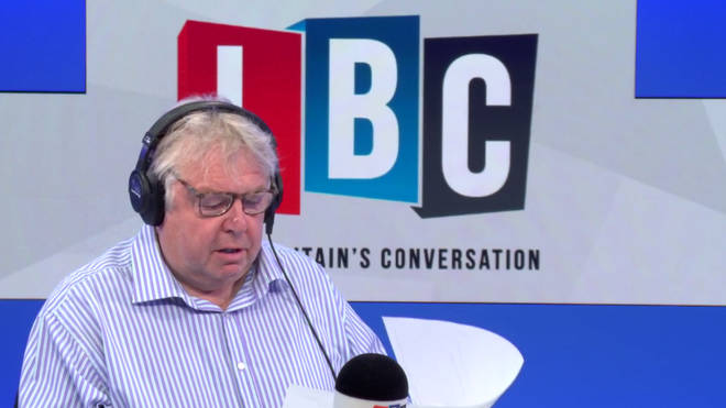 Nick Ferrari reads out the 5 word response from Jacob Rees-Mogg
