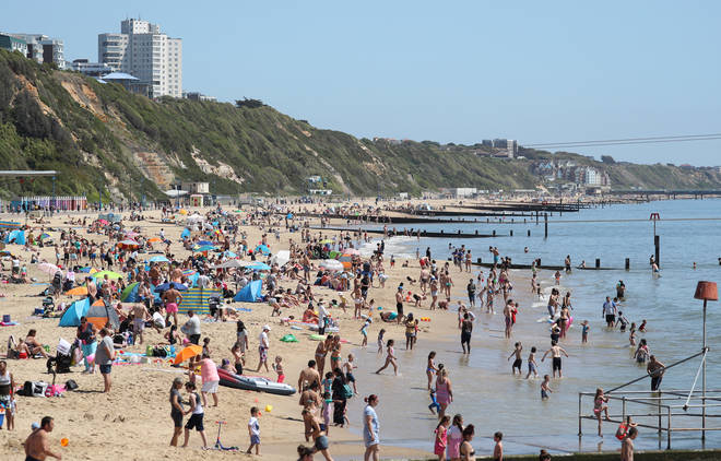 Beaches were packed over the May bank holiday
