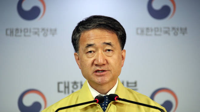 "Health Minister Park Neung-hoo said South Korea faces a ""grave situation"""