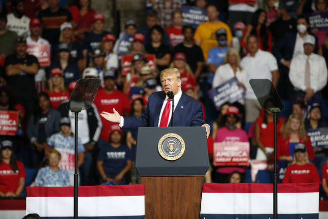 """The president used the phrase """"kung flu"""" during a rally in Tulsa"""