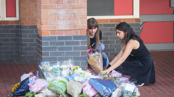 Tributes were paid across Reading on Monday