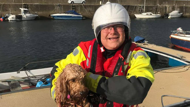 The cockerpoo was saved by the coastguard
