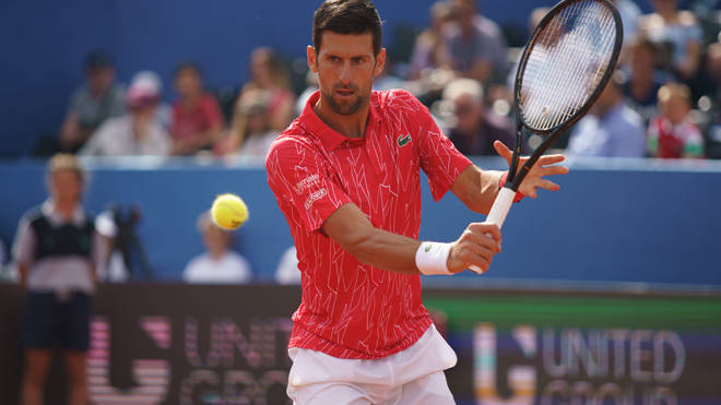 Novak Djokovic was taken ill after taking part in the Adria Tour, which he helped organise