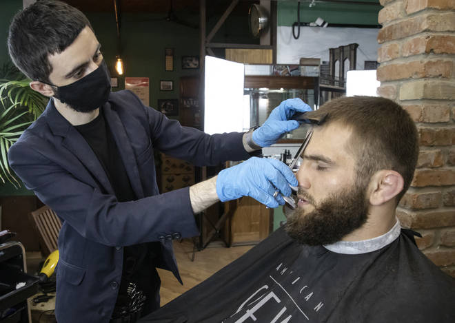 Barbers can also reopen from July