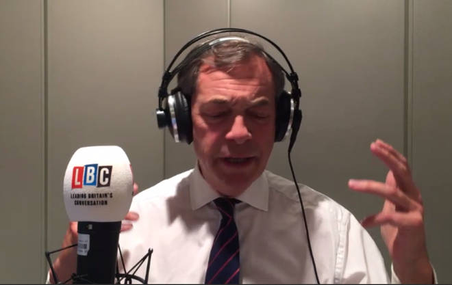 Nigel Farage wasn't happy with the announcement  that the Governor of the Bank of England is staying on until 2020
