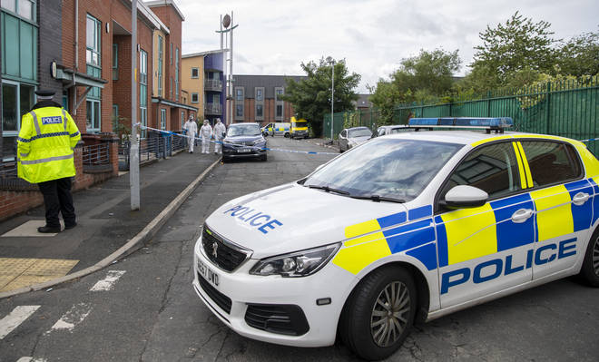 The shooting happened on Caythorpe Street in Moss Side, Manchester, on Sunday morning