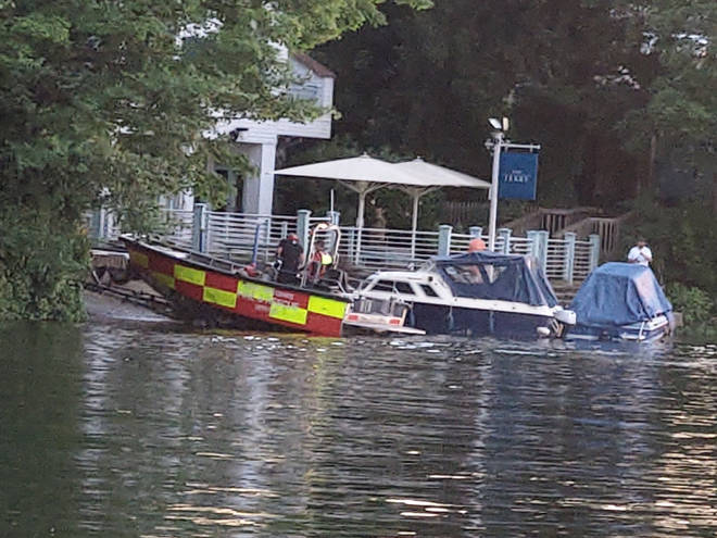 Emergency services were seen on the River Thames near Cookham in Berkshire