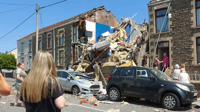 Three people were left in critical condition after the explosion