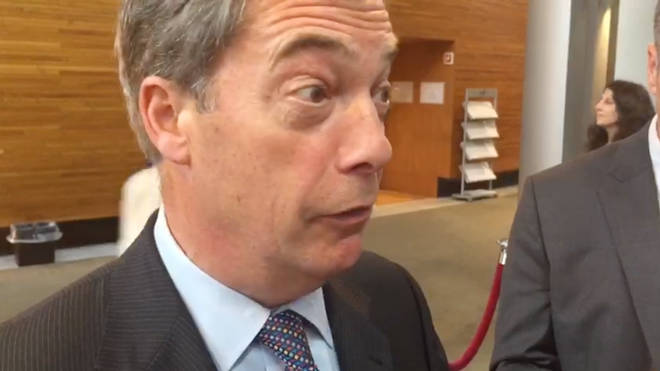 Nigel Farage at the European Parliament