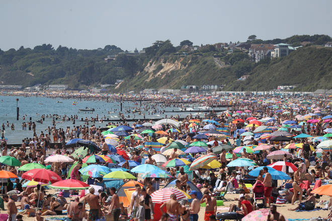 Crowds on Bournemouth beach have caused concern among locals