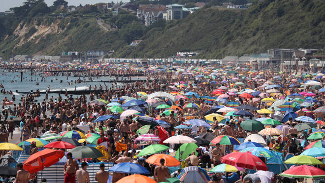 Thousands of people visited Bournemouth beach yesterday