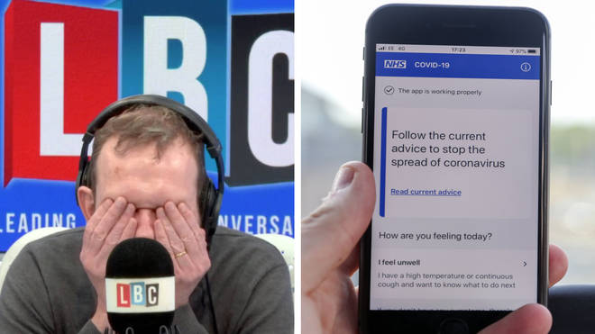 "Engineer explains to James O&squot;Brien why the NHS app ""is not fit for purpose"""