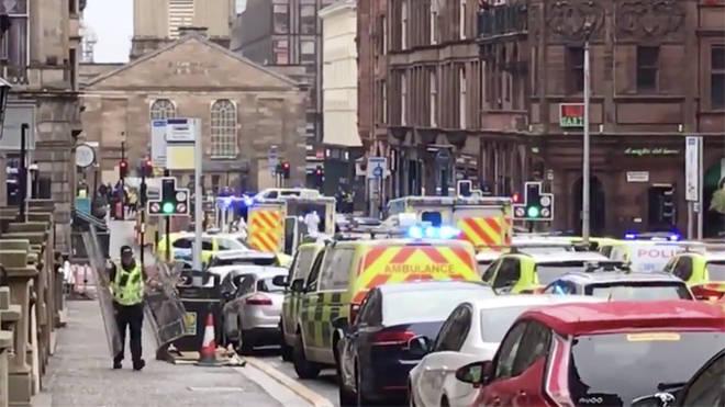 Police on west George street in Glasgow