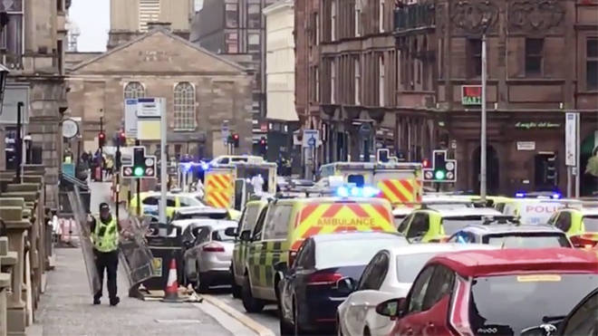 Police on west George street in Glasgow