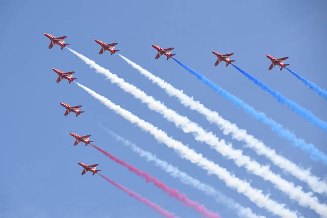 File photo: The Red Arrows will perform a fly-past in North Yorkshire