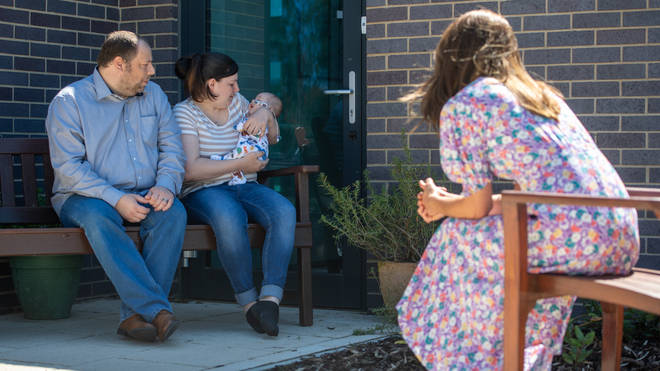 The Duchess of Cambridge meets Liam and Lisa Page and baby Connor