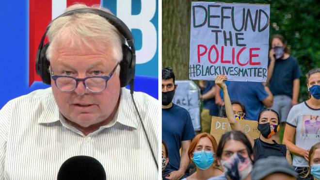 Nick Ferrari took on a caller who wanted to defund the police