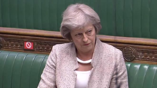 Theresa May looked furious at Michael Gove's answer