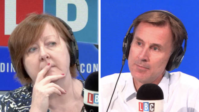 "Mr Hunt told Shelagh Fogarty there is ""cause for concern"" for NHS hospitals this winter"
