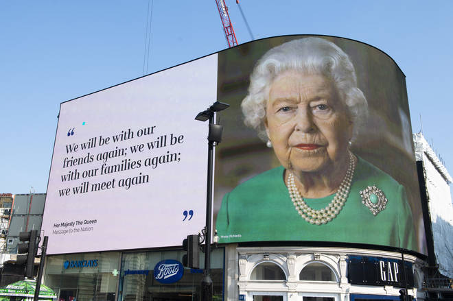 The Queen made a televised address to the nation