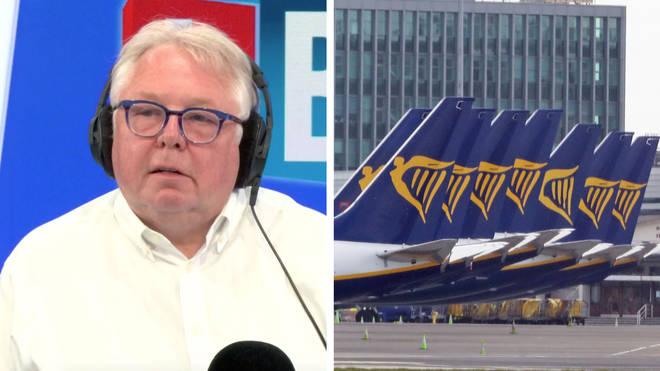 Nick Ferrari heard how RyanAir flights will be different