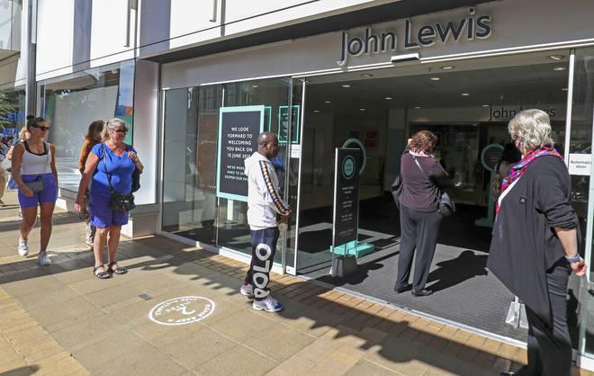 John Lewis has been hit financially by the coronavirus pandemic