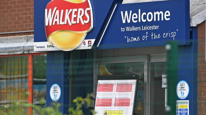Walkers crisp factory in Leicester has recorded 28 staff members having coronavirus