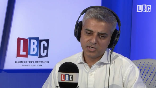 Sadiq Khan speaking on LBC in July 2016