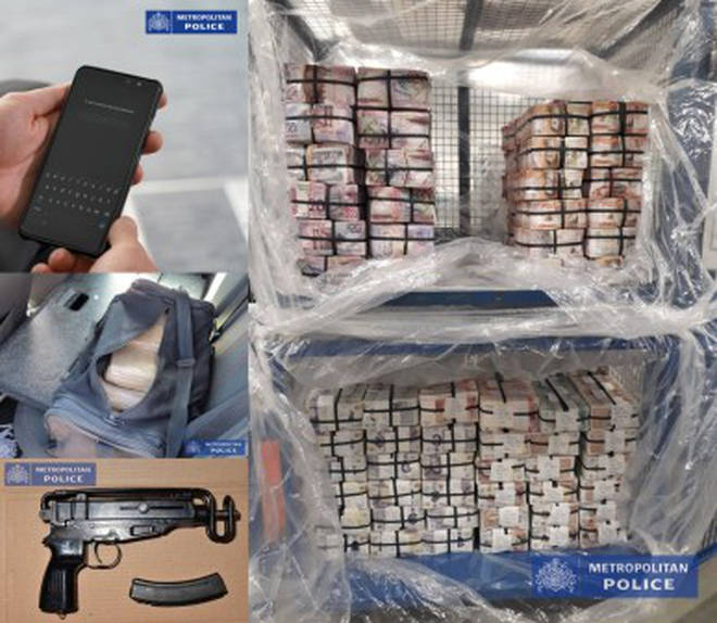 Some of the items seized by London's police
