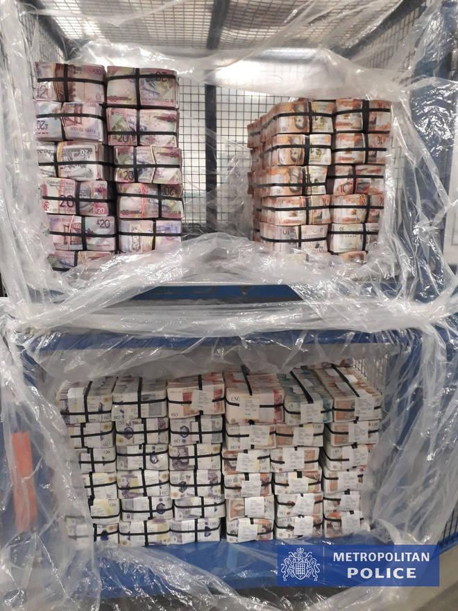 £5.1m cash seized under Operation Venetic in London alone
