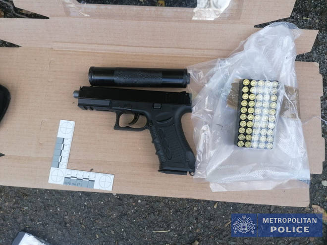 A number of firearms were recovered by police as part of the operation