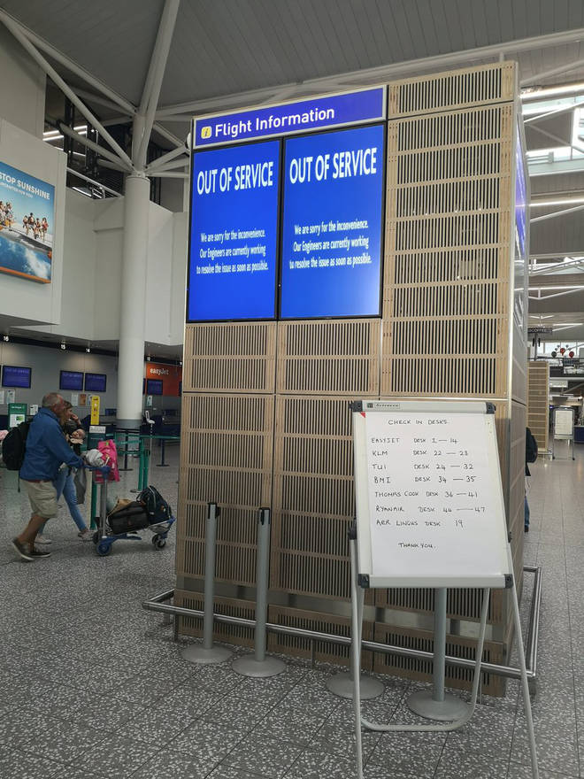Bristol Airport resulted to writing information on whiteboards when hit by a suspected cyber attack