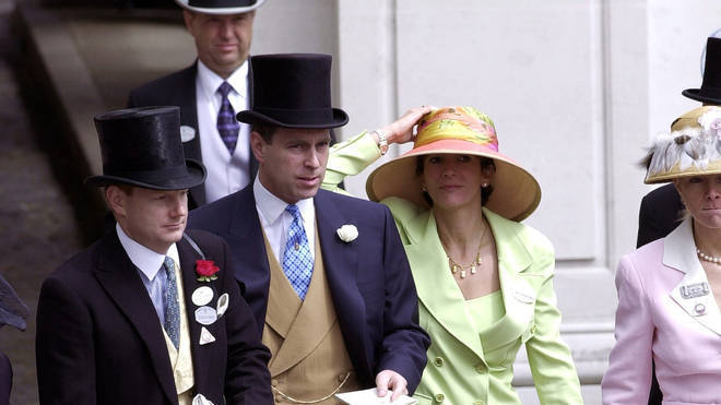 Prince Andrew pictured with Maxwell in 2000