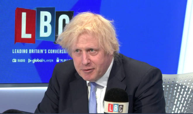 The Prime Minister was answering questions from LBC listeners