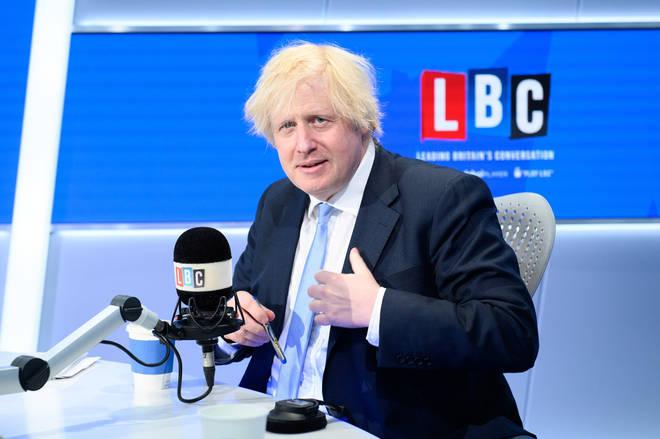 Boris Johnson was speaking exclusively to LBC