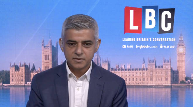 On LBC's Speak to Sadiq, the Mayor responded to accusations of failing London