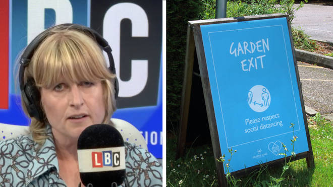 The caller told Rachel Johnson the government should have just opened beer gardens