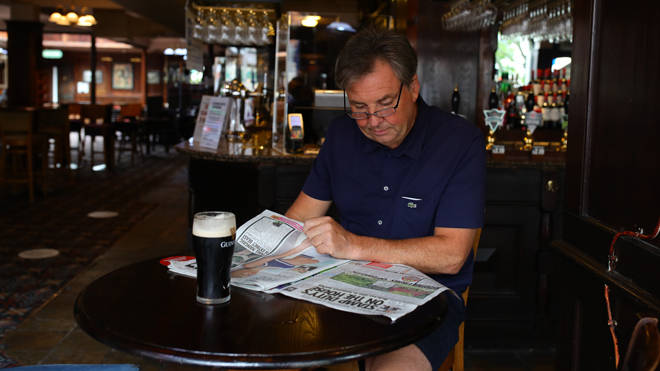 Andrew Slawinski, 54, enjoyed a pint of Guinness