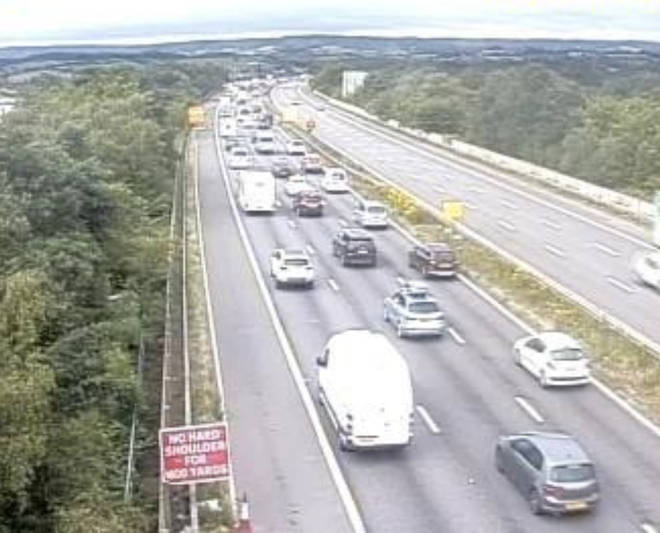 Highways England posted this image of traffic