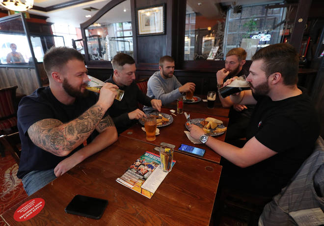 England reopened bars and restaurants today