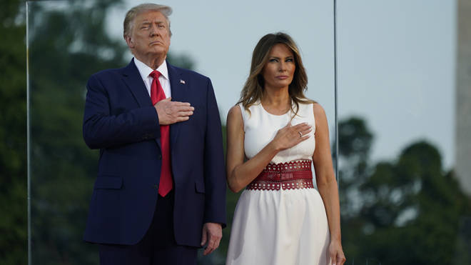 Donald Trump and Melania at the Fourth of July events