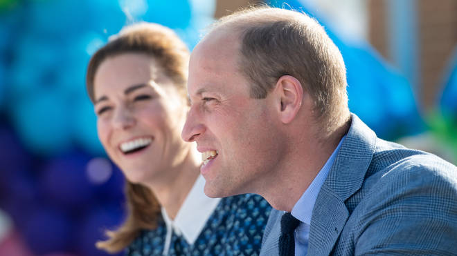 The Duke and Duchess of Cambridge during their visit to Queen Elizabeth Hospital in King's Lynn