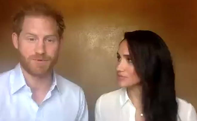 The couple were taking part in a Queen's Commonwealth Trust session