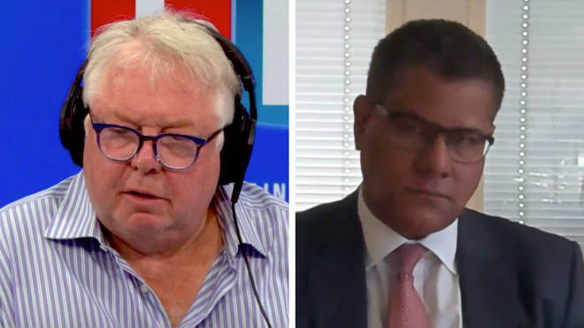 Nick Ferrari quizzed Alok Sharma on the PM's comments