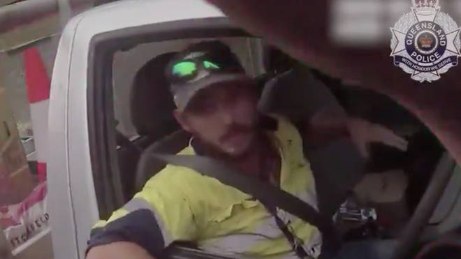 The man pulled over and said he thought he had been bitten