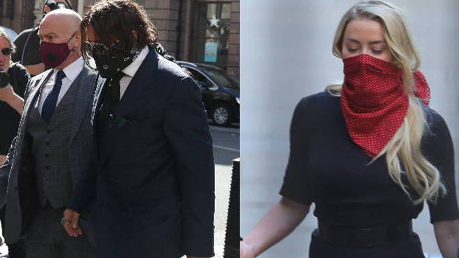 Johnny Depp and Amber Heard have arrived at the High Court in London