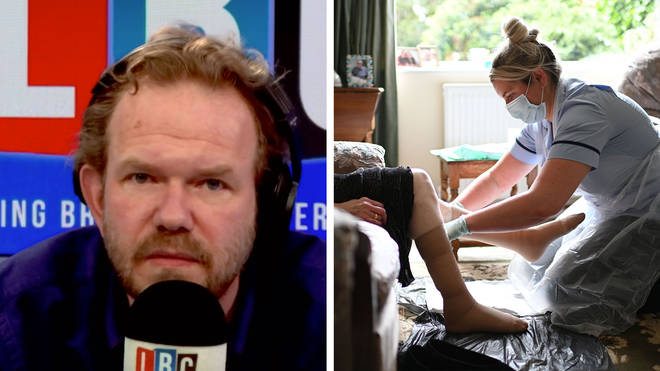 James O'Brien responded to Boris Johnson's care home comments
