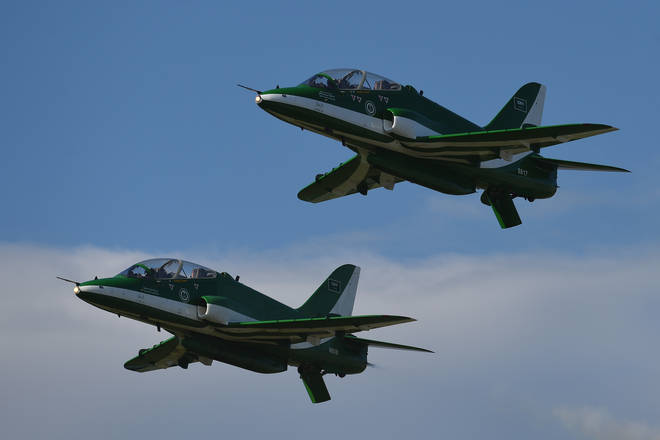 Saudi Hawk jets are among the arms sold to the Arabic kingdom by the UK